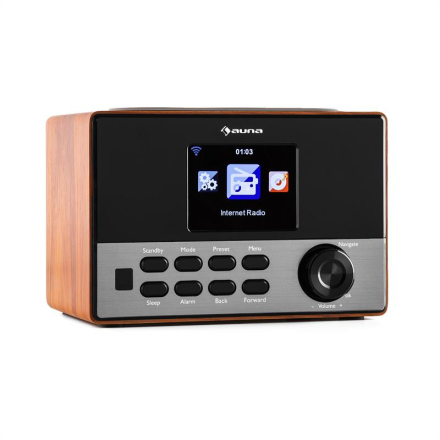 """Connect 90 WD Internetradio Wi-Fi AUX 3,2""""-TFT-Färgdisplay Line-Out"""