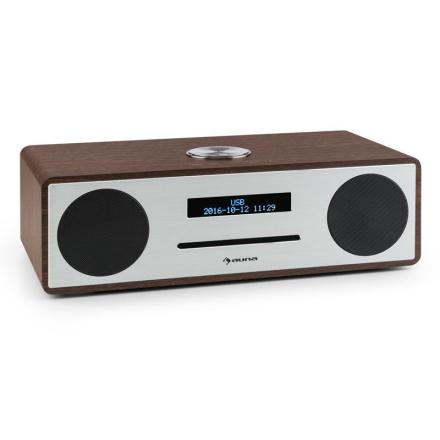 Stanford DAB-CD-Radio DAB+ Bluetooth USB MP3 AUX UKW valnötsfärgad