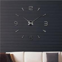 Seinäkello 3D Mirror 100cm, Musta