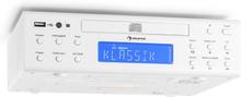 KRCD-150 Monterbarbar köksradio CD USB UKW RDS Alarm Fjärrkontroll vit