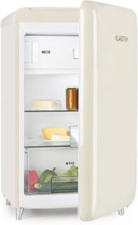 PopArt Cream retro-kylskåp A++ 108 l/13 l frysfack creme