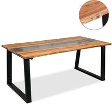 vidaXL Ruokapöytä Täysi akaasiapuu ja lasi 180x90x75 cm