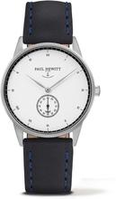 Paul Hewitt Signature Line White Ocean Silver/navy Läderarmband