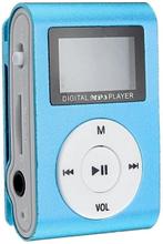 Kompakt mp3-afspiller med mikrofon, Blå