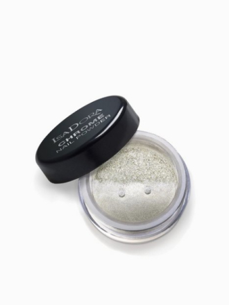 Neglelakk - Silver Mirror Isadora Chrome Nail Powder