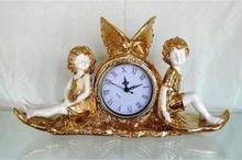 Steve Art Gallery Klockan med två änglar 38x22x11 cm