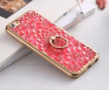 Stilrent DIAMOND skal med Ringhållare för iPhone 6 6S PLUS ROSA 8ffc4b4e867a4
