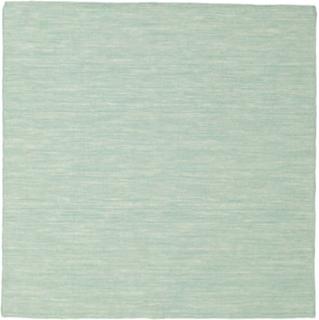 Kelim loom - Mint Grön matta 150x150 Modern, Kvadratisk Matta