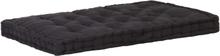 vidaXL Dyna till pallsoffa bomull 120x80x10 cm svart