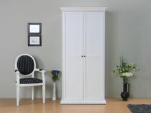 Venedig klædeskab 2-dørs bredde 96 cm, højde 200 cm hvid.