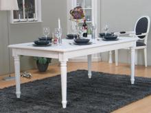 Amaretta spisebord 100x180/280 inkl. 2 tillægsplader antik hvid.