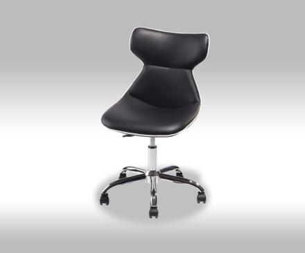Valis kontorstol i svart PU kunstskinn.