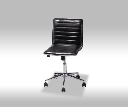 Jezz kontorstol i svart PU kunstskinn.