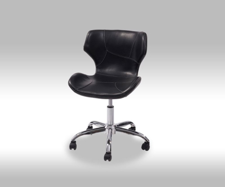 Cho kontorstol i svart PU kunstskinn