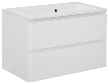 Vaskeskab Maja 80 cm i hvid højglans lak med vask. Leveres færdig samlet.