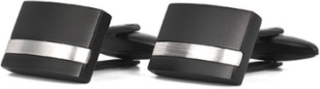 Moltas manschettknappar svart stål