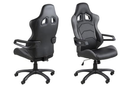 Thory kontorstol i svart PU kunstskinn.