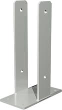 Plus U-stolpsko för fundament För stolpar 9x9 cm - höjd 30 cm-Galvaniserad