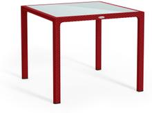 Petite table rouge scarlet
