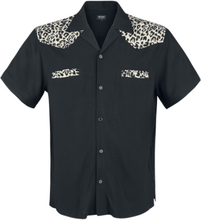 Chet Rock - Jeffrey Leo Bowling Shirt -Kortermet skjorte - svart