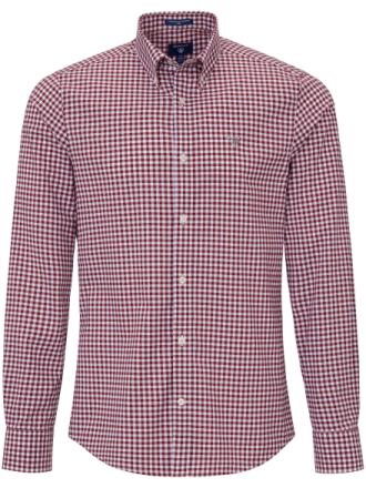 Skjorta button down-krage från GANT röd