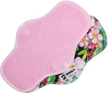 Anavy - Damenbinden (Baumwoll-Velours) - Maxi (Nacht) - Pink Flowers (Pink)