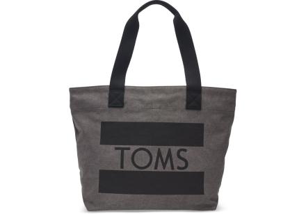 TOMS Charcoal Flag Transport Shopper