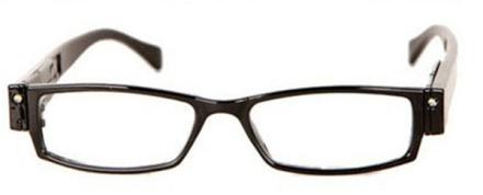 Unisex Läsglasögon med LED-Lampor inkl. fodral +2.0