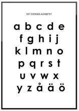 Poster, Det svenska alfabetet, små bokstäver (21x30 cm)