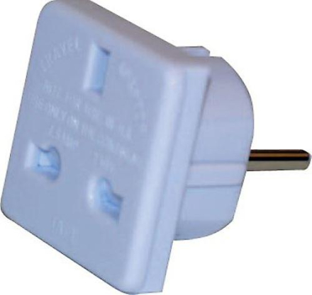 Reise Adapter Plug Storbritannia til europeiske 2pin CE godkjent