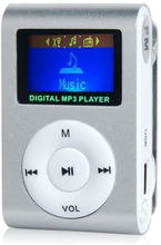Kompakt mp3-afspiller med mikrofon, Sølv