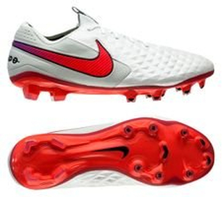 Nike Tiempo Legend 8 Elite FG Flash Crimson - Hvit/Oransje/Hvit