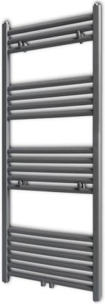 vidaXL Handdukstork centralvärme element rak grå 500 x 1160 mm