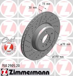 Bromsskiva ZIMMERMANN 150.2905.20