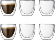 Pavina dubbelväggigt glas 6-pack 8 cl