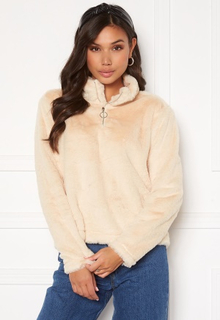 Rut & Circle Alex Fur Sweater Sand XL