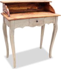 vidaXL Skrivbord massivt återvunnet trä 80x40x92 cm