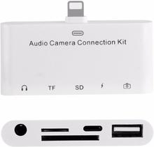 Ljud Ladd USB & minneskort adapter för iPhone & iPad - Audio camera connection kit