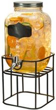 Glasbehållare med tappkran