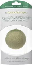 Konjac Sponge Premium Facial Puff French Green Clay