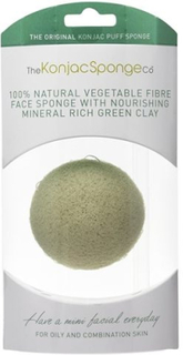 Konjac Sponge Premium Facial Puff French Green Clay