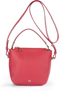 Väska i 100% läder för kvinnor, modell Roma från Aigner röd