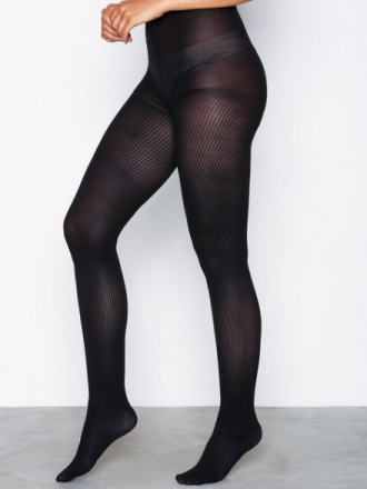 NLY Lingerie Sheer Striped Tights Svart