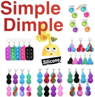 Simple Dimple, Mini Pop It Fidget Finger Toy / Leksak- Ce Pink Storliten-bubblor - Rosa