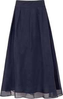Kjol i 100 % silke från Uta Raasch blå