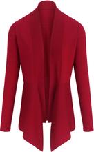 Kofta i 100% ren ny ull, Biella Yarn från Peter Hahn röd