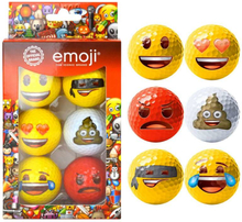 Emoji 6 Pack Fun Golf Balls