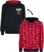 Sesam Stasjon - Elmo -Hettejakke - rød, svart