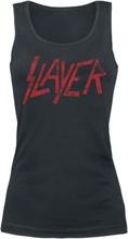 Slayer - Distressed Logo -Topp - svart