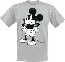 Mickey Mouse - Bad Mood -T-skjorte - gråmelert